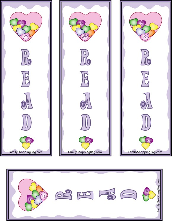 Candy Hearts Bookmarks