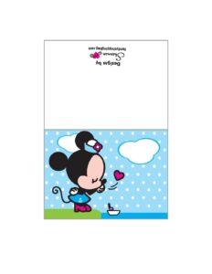 Minnie Printable Card