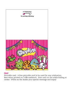 Shopkins Card