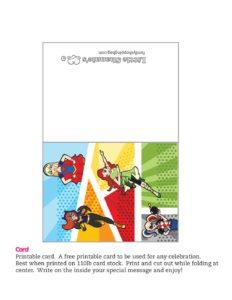Card DC Super Hero Girls