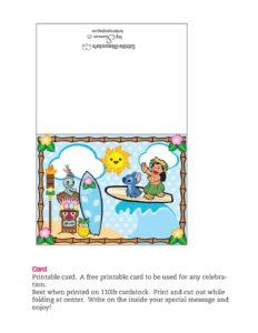 Card Lilo and Stitch