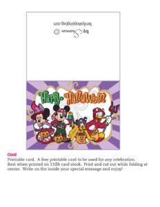 Card Mickey Halloween