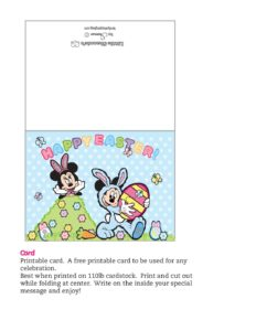 Card Mickey Mouse Easter