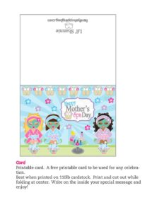 Card Moms Spa Day