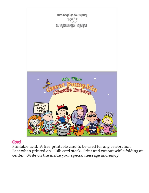 Card Peanuts Halloween