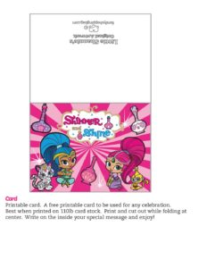 Card Shimmer and Shine