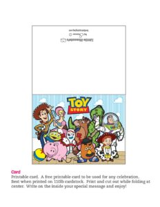 Card Toy Story