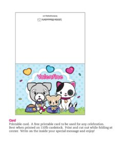Card Valentine Pups and Kittens