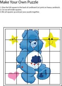 Care Bear Blue Puzzle