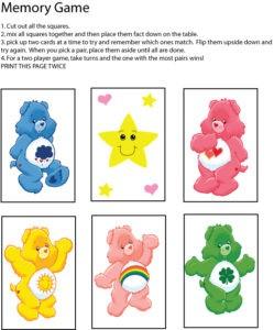 Care Bear Memory Game