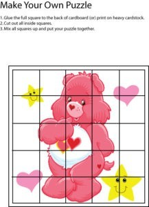 Care Bear Pink Puzzle