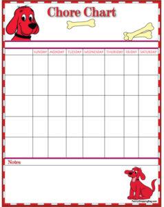 Clifford Chore Chart