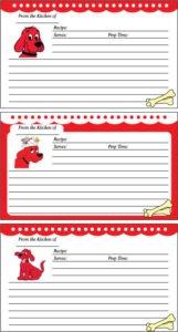 Clifford Recipe Cards