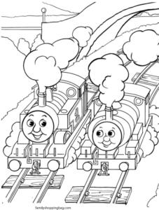 Thomas Tank Coloring Page 4