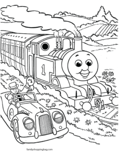 Thomas Tank Coloring Page