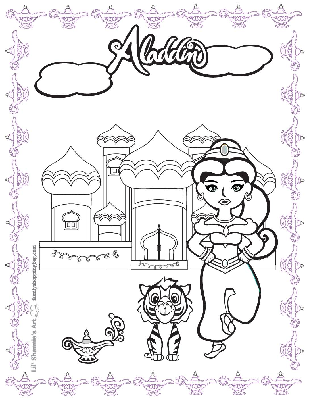 Coloring 2 Page Aladdin