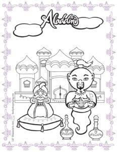 Coloring 3 Page Aladdin