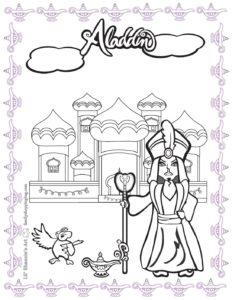 Coloring 4 Page Aladdin
