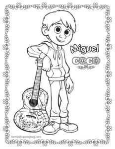 Coloring 4 Page Coco
