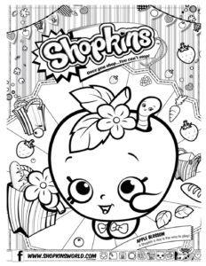 Shopkins Coloring Page 6