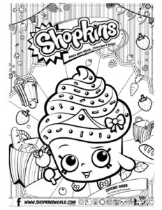 Shopkins Coloring Page 7