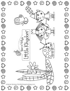 Coloring Page 1 Ben & Holly
