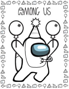Coloring Page 2 Among US