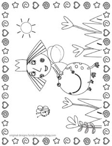 Coloring Page 2 Ben & Holly
