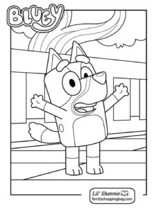 Coloring Page 2 Bluey