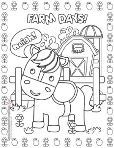 Coloring Page 2 Farm