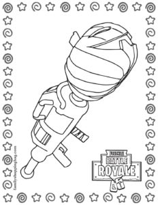 Coloring Page 2 Fortnite