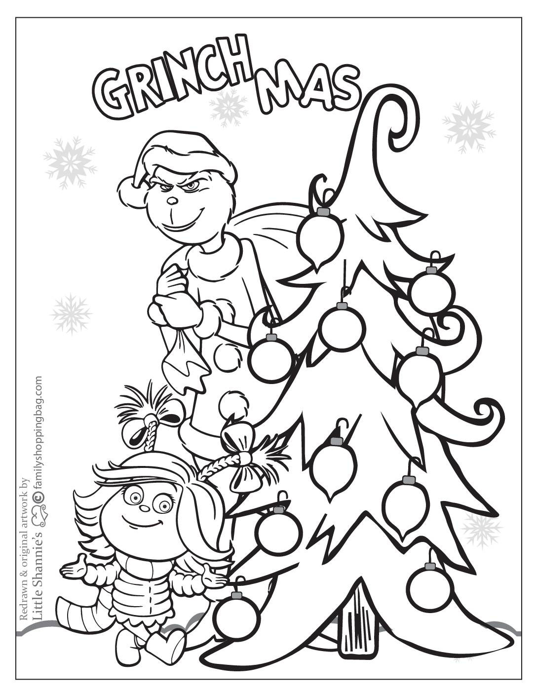 Coloring Page 2 Grinch