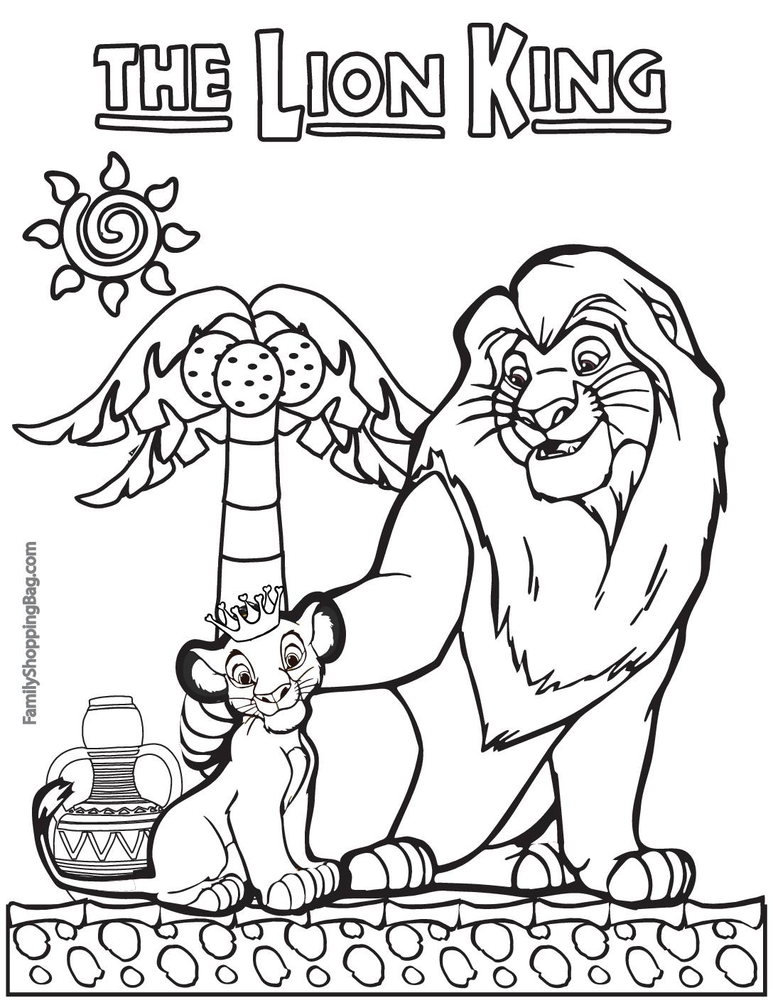 Coloring Page 2 Lion King