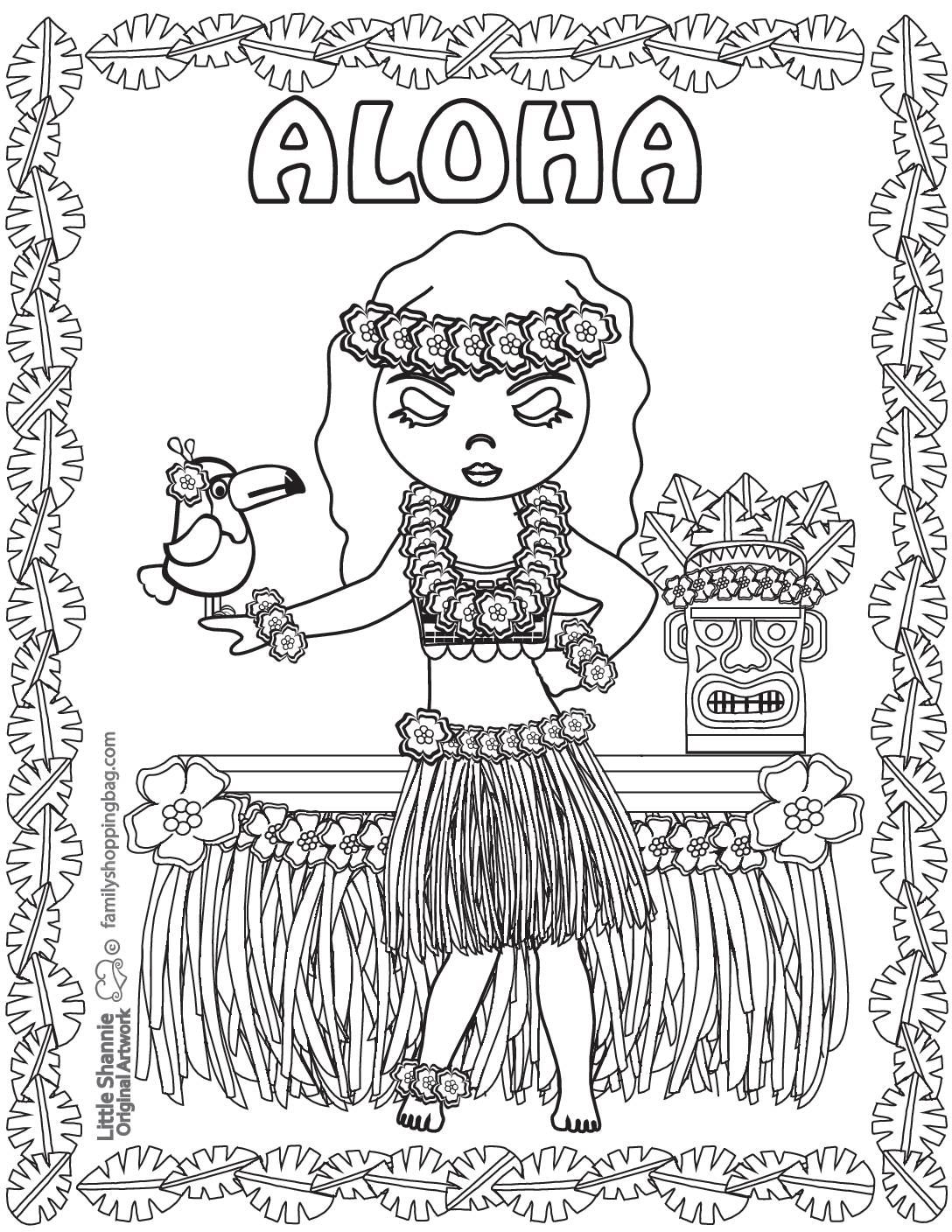 Coloring Page 2 Luau