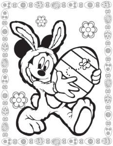 Coloring Page 2 Mouse Easter