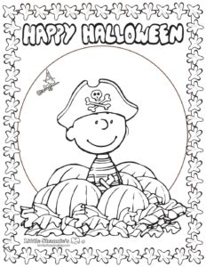 Coloring Page 2 Peanuts Halloween