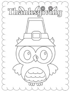 Coloring Page 2 Thanksgiving