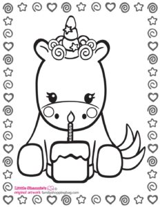 Coloring Page 2 Unicorn