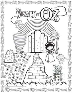 Coloring Page 2 Wizard of Oz