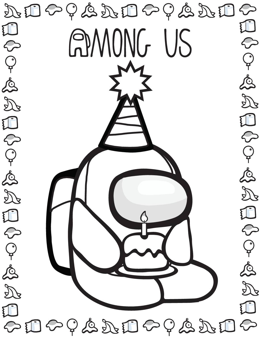 Coloring Page 3 Among US