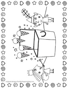 Coloring Page 3 Ben & Holly