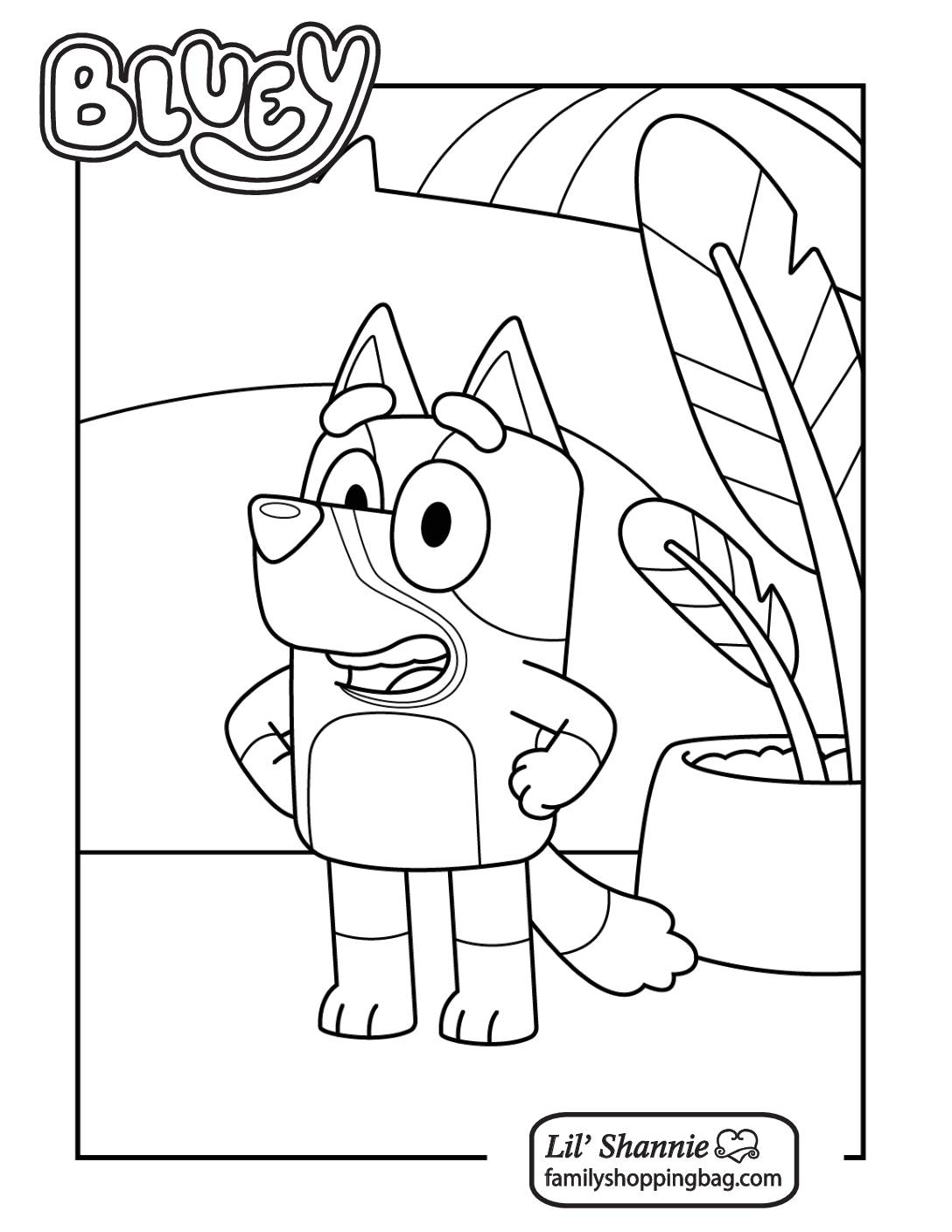 Coloring Page 3 Bluey