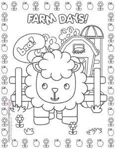 Coloring Page 3 Farm