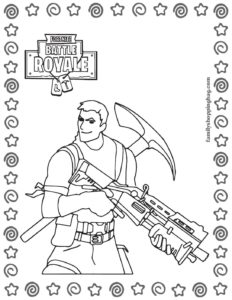 Coloring Page 3 Fortnite