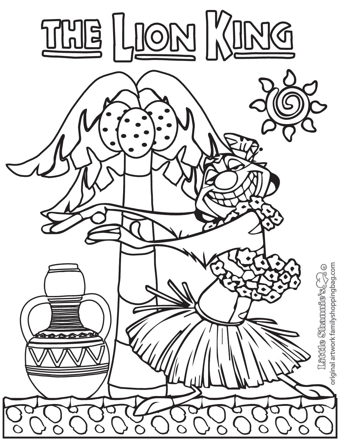 Coloring Page 3 Lion King