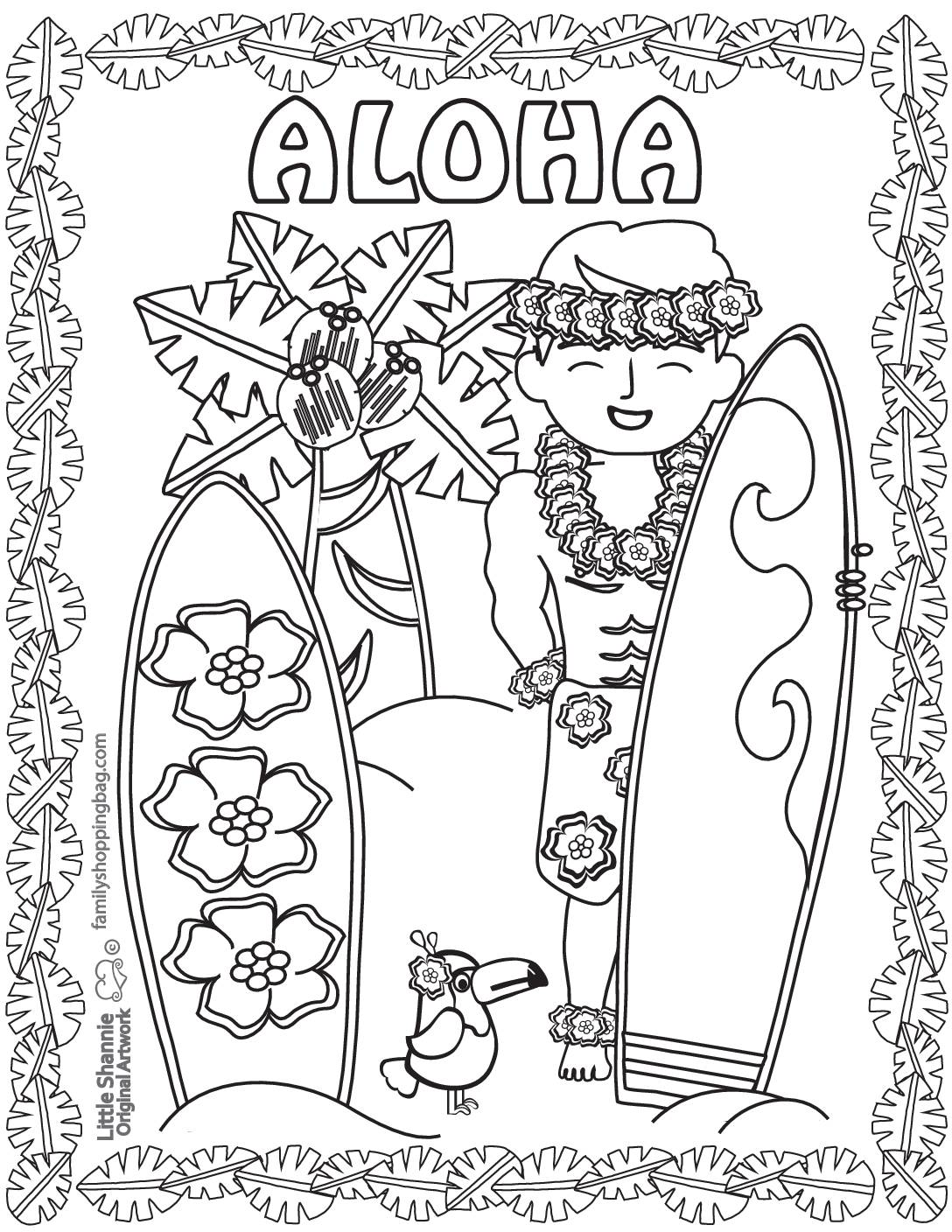 Coloring Page 3 Luau