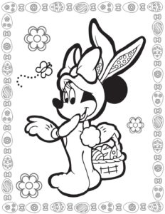 Coloring Page 3 Mouse Easter