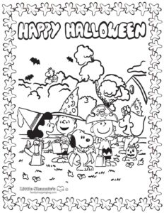 Coloring Page 3 Peanuts Halloween