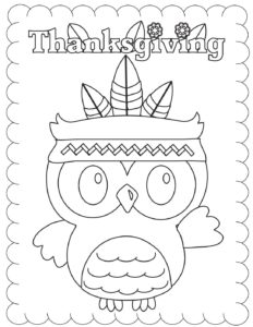 Coloring Page 3 Thanksgiving
