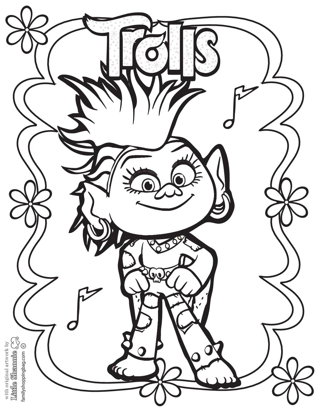 Coloring Page 3 Trolls